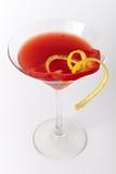 Красное питье коктеиля с лимоном и паприкой Стоковое Изображение RF