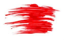 Красное пятно краски Стоковое фото RF
