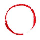 Красное пятно краски Стоковые Изображения
