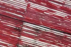 Красное плакирование стены металла стоковые изображения rf