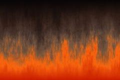 Красное пламя огня с дымом Стоковое Изображение RF