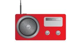 Красное радио иллюстрация штока