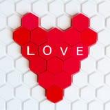 Красное сердце мозаики ` s детей Стоковое фото RF