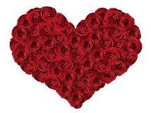 Красное сердце от роз Стоковое Фото