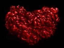 Красное сердце текстура акриловых чернил абстрактная предпосылка Стоковое Изображение RF