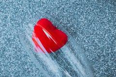 Красное сердце внутри бокала Стоковое фото RF