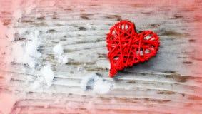 Красное сердце влюбленности стоковые изображения rf