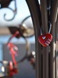 Красное сердце замка комбинации Стоковое Изображение RF