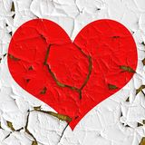 Красное сердце как старая фольга Стоковые Фотографии RF