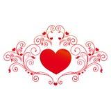 Красное сердце, на белизне Стоковая Фотография RF