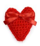 Красное сердце на белой предпосылке Стоковое фото RF