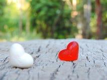 Красное сердце, предпосылка валентинки Стоковое Фото