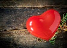 Красное сердце рождества для возлюбленн Стоковая Фотография RF