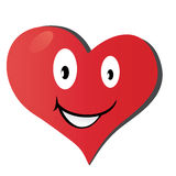 Красное сердце Стоковое Изображение
