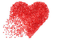 Красное сердце стоковые изображения rf