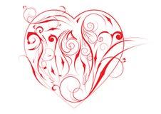 Красное сердце Стоковые Изображения