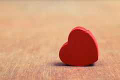 Красное сердце Стоковая Фотография