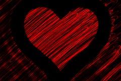 Красное сердце Стоковое фото RF