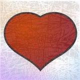 Красное сердце. eps10 Стоковая Фотография RF