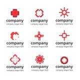 Красный медицинский логос Стоковые Изображения RF