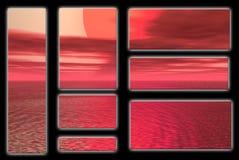 красное солнце Стоковые Изображения RF