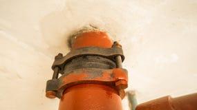 Красное стальное соединение с окисью Стоковое фото RF