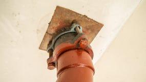 Красное стальное соединение с окисью Стоковая Фотография RF