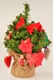 Красное украшение праздника стоковая фотография rf