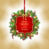 Красное украшение рождества Стоковые Фото