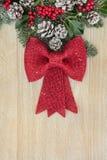 Красное украшение смычка Стоковое Изображение RF