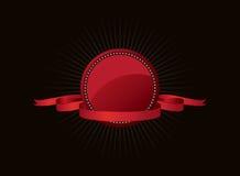 красное уплотнение тесемки Стоковое Фото