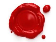 Красное уплотнение воска с космосом для логотипа или текста Стоковое Фото