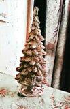 Красное фоновое изображение рождественской елки вишни иллюстрация штока