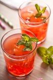 Красное холодное питье коктеиля лета Стоковое фото RF