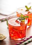 Красное холодное питье коктеиля лета Стоковое Изображение RF
