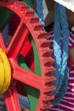 красное цепное колесо Стоковые Фотографии RF
