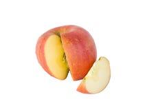 Красное яблоко изолированное на белой предпосылке Стоковые Изображения
