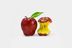 Красное яблоко (сияющая поверхность) Стоковые Изображения RF