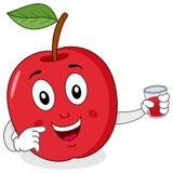 Красное Яблоко с свежим сжиманным соком бесплатная иллюстрация