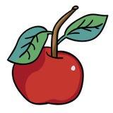 Красное яблоко также вектор иллюстрации притяжки corel Бесплатная Иллюстрация
