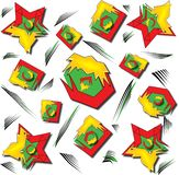 Красное Abstarct геометрическое и зеленое Backgound иллюстрация штока