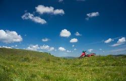 Красное ATV Стоковое Фото