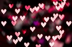 Красное bokeh сердца Стоковые Фотографии RF