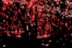 Красное bokeh Стоковое Изображение RF