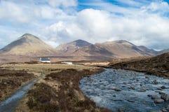 Красное Cuillin Skye Стоковая Фотография