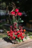 Красное folwer в вазе Стоковая Фотография RF