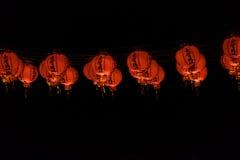 Красное Lanters виска лотоса на горящем человеке 2015 Стоковые Изображения RF