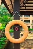 Красное lifebuoy Стоковое фото RF