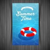 Красное lifebuoy Стоковая Фотография