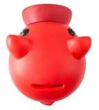 Красное Piggy moneybank Стоковое фото RF
